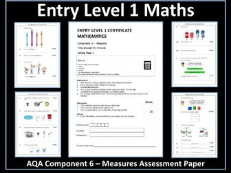 AQA Entry Level Maths Assessment - Measures