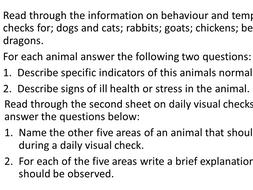 Animal Care - Animal Health - Daily Visual Health Checks