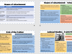 ATTACHMENT Revision Powerpoint for AQA Psychology
