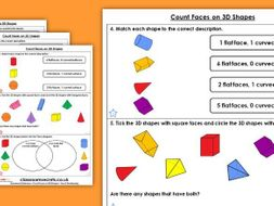 Year 2 Count Faces on 3D Shapes Spring Block 3 Maths Homework Extension