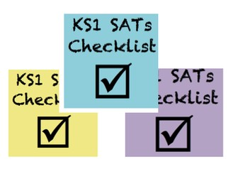 KS1 SATs Checklists
