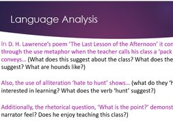 last lesson of the afternoon questions