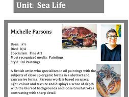GCSE Art - Sea Life Artists Knowledge Organiser