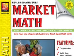 Consumer Word Problems & Menu: Market Math