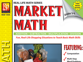 Consumer Word Problems & Menu: Market Math